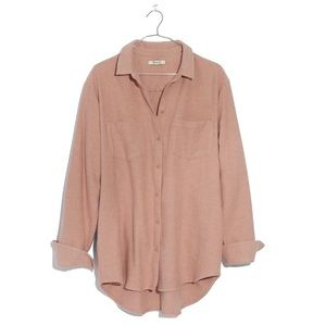 Madewell Flannel Sunday Shirt in Antique Coral